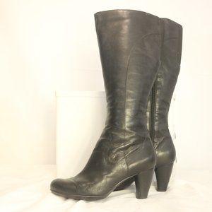 Indigo Women's 9M Boots Knee High Black Leather